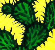 Chinese brush painting - Opuntia cactus. by KerstinB