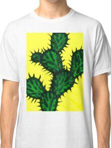 Chinese brush painting - Opuntia cactus. Classic T-Shirt