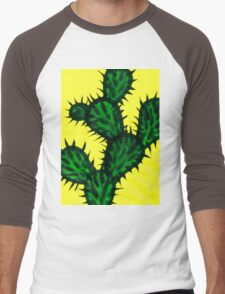 Chinese brush painting - Opuntia cactus. Men's Baseball ¾ T-Shirt