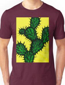 Chinese brush painting - Opuntia cactus. Unisex T-Shirt