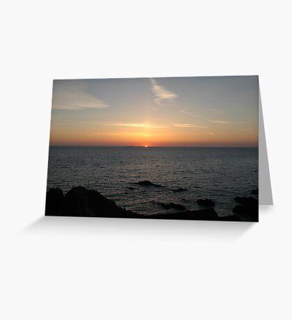 Atlantic Sunset Greeting Card