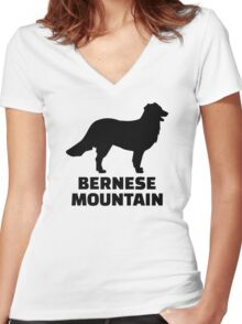 Bernese mountain Dog Women's Fitted V-Neck T-Shirt
