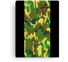 Camouflage iPhone / Samsung Galaxy Case Canvas Print
