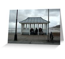 The great British day out at the seaside. Greeting Card