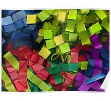 Colorful cut tissue paper Poster