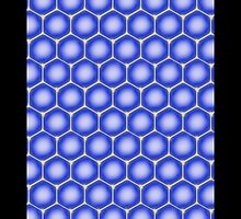 Ice Blue Honeycomb iPhone / Samsung Case by Tucoshoppe