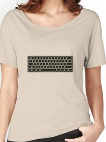 COMPUTER KEYBOARD BLACK Women's Relaxed Fit T-Shirt