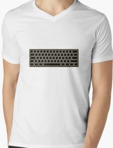 COMPUTER KEYBOARD BLACK Mens V-Neck T-Shirt