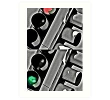 Stop/Go Light Art Print