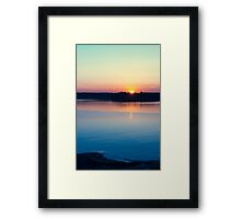Scandinavia, sunset on sea and tranquil evening Framed Print