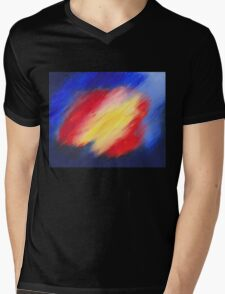 Abstract colorful acrylic painting Mens V-Neck T-Shirt
