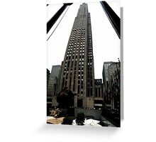 30 Rockefeller Center Greeting Card