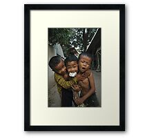 3 friends  Framed Print