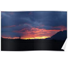 Sunset Over Wallace  Poster