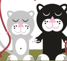 Cats in love Sticker