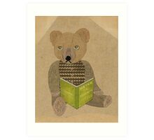 How to be a teddy bear Art Print