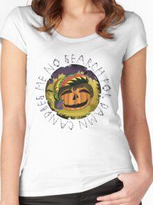 Rasta Pumpkin - Halloween Special  Women's Fitted Scoop T-Shirt