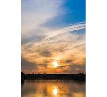 Scandinavia, sunset on sea and tranquil evening Photographic Print