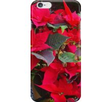 Poinsettias for Christmas iPhone Case/Skin