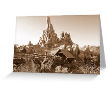 Big Thunder Mountain Railroad Greeting Card