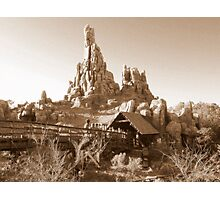 Big Thunder Mountain Railroad Photographic Print