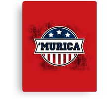 'MURICA T-Shirt. America. Jesus. Freedom. - The Campaign Canvas Print