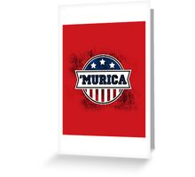 'MURICA T-Shirt. America. Jesus. Freedom. - The Campaign Greeting Card