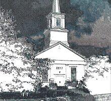 Brooklin Maine Baptis Church by Cliff Wilson