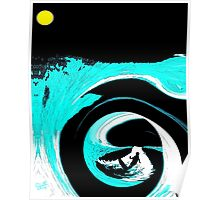 Night Surfing Poster