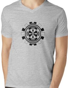 Mandala 11 Back In Black Mens V-Neck T-Shirt