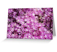 Waves of Purple Greeting Card