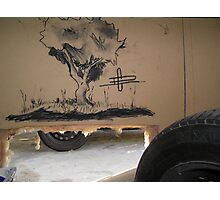 Charcoal on Wall Photographic Print