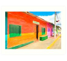 Vibrant Tropical Colors Of Nicaragua - San Juan del Sur Art Print