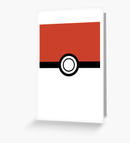 Pokemon Pokeball Inspired iPhone and iPad Case Greeting Card