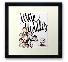 Little Hiddes Title Art Framed Print