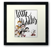 Little Hiddes Title Art Framed Print