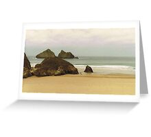 Winter, Holywell Bay Greeting Card
