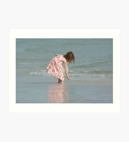 Little Girl on Beach Art Print
