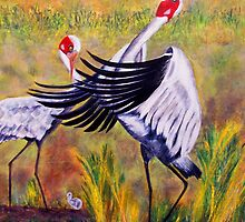 Brolga's Courtship Dance by Ciska