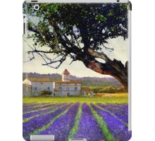 lavender fields and chalet at sunset iPad Case/Skin