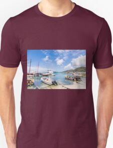 Boats in Tropical Harbor.jpg T-Shirt
