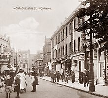 Montague Street, Worthing, Sussex. by CentenaryImages