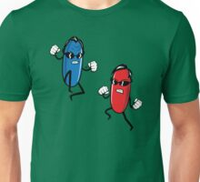 Blue Pill versus Red Pill by Tai's Tees Unisex T-Shirt