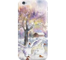 Geese In Germany In Winter iPhone Case/Skin