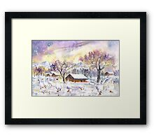 Geese In Germany In Winter Framed Print