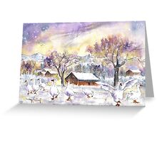 Geese In Germany In Winter Greeting Card