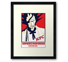 Kenpachi's Fried Chicken Tshirt Framed Print
