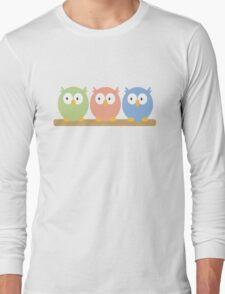 three owls Long Sleeve T-Shirt