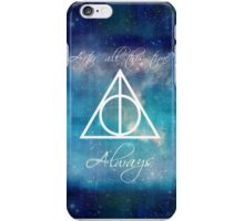 Harry Potter Deathly Hallows Always iPhone Case/Skin