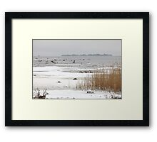 ice covered lake Framed Print